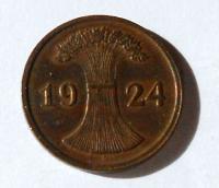 Německo 2 Pfenik 1924 D
