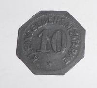 Německo-Mainz 10 Pfenik 1917 stav nouzovka