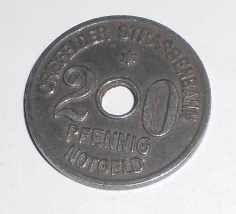 Německo-Notgeld 20 pfenik 1919 novoražba