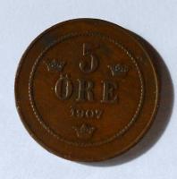 Norsko 5 Öre 1907