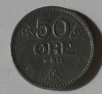Norsko 50 Öre 1942
