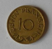 Sársko 10 Frank 1954