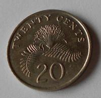 Singapur 20 Cents 1991