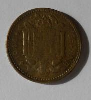 Španělsko 1 Peseta 1944