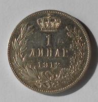 Srbsko 1 Dinár 1912