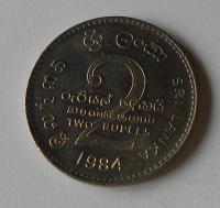 Srí-Lanka 2 Rupie 1984