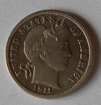 USA 10 Cent 1911