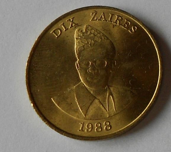 Zaire 10 Zaire 1988