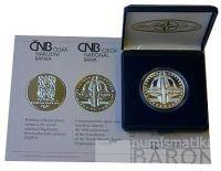 200 Kč(1999-NATO), stav PROOF, certifikát