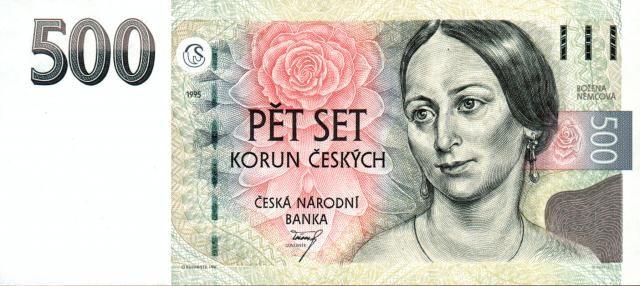 500Kč/1995/, stav UNC, série B