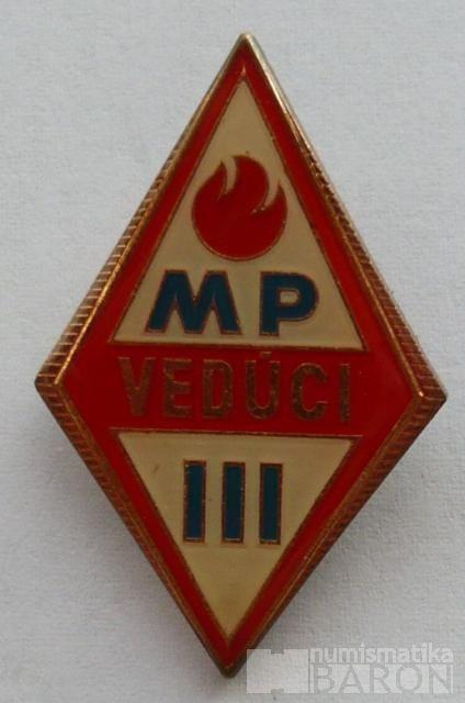 Mladý požárník - vedoucí III.třídy