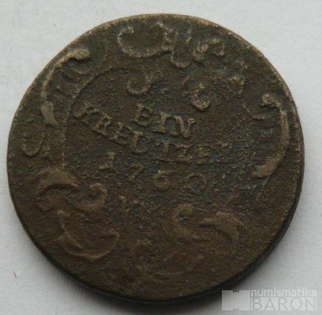 Rakousko Krejcar František Lotrinský 1760 W