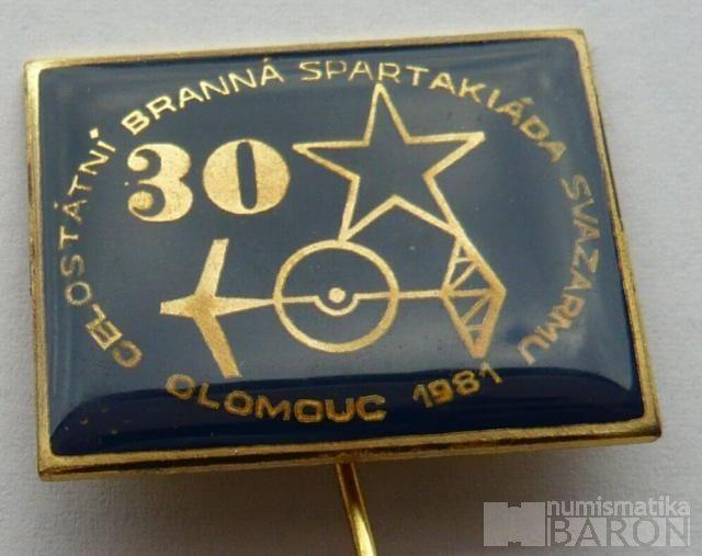 Zimní branná spartakiáda 1981 - černý