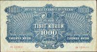 1000K/1944/, stav 3, série CK, NEPERFOROVANÁ!