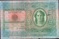 100K/1912/, stav 2+ poškozený okraj, série 1620