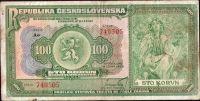 100Kč/1920/, stav 3, série Ao
