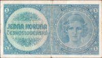 1Kč/1938/, stav 3-, série A 048, bez přetisku