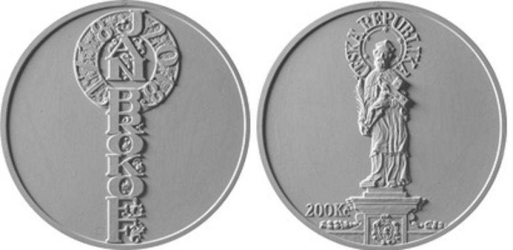 200 Kč(2018-Jan Brokoff), stav PROOF, etue a certifikát