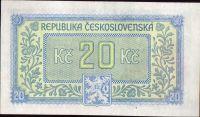 20Kčs/1945-bl/, stav UNC, série HG