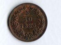 5/10 Krejcar(1885), stav 1/1 - varianta větší orel
