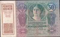 50Kč/1914-17, kolek ČSR/, stav 2 dr.n., série 1047