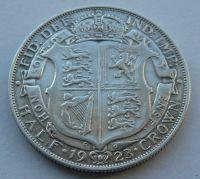 Anglie 1/2 Cronen 1923 Jiří V.