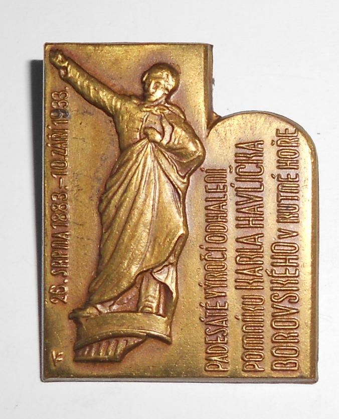 ČSR Odhalení desky K.H. Borovského v 1933