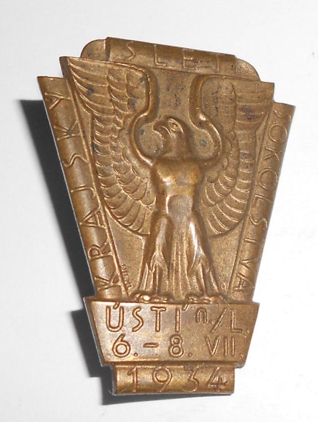 ČSR Slet Sokola v Ústí n. Labem 1934 těžký kov