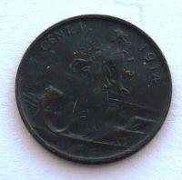Itálie 1 Centesimi 1914