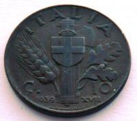 Itálie 10 Centesimi 1939