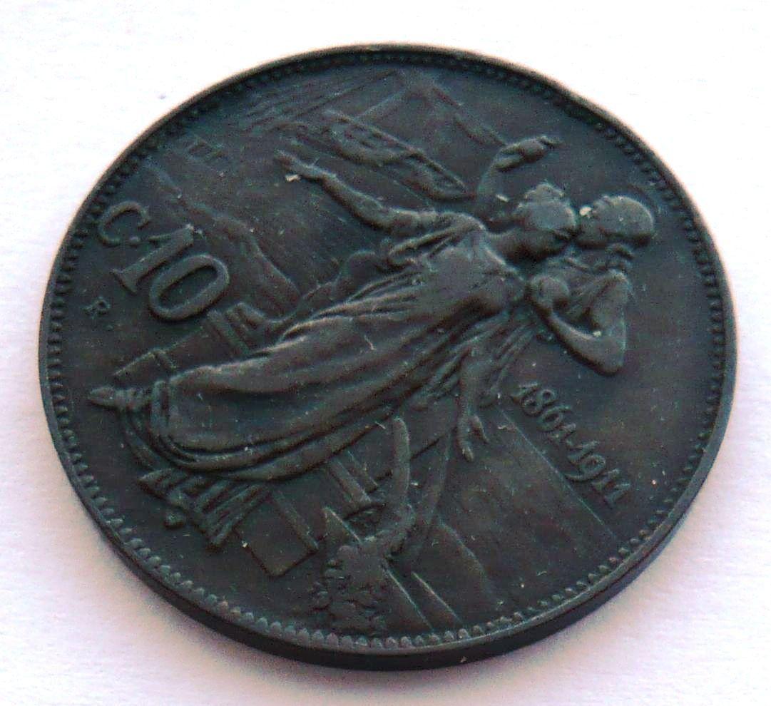 Itálie 10 Centesimi jub. 1861-1911
