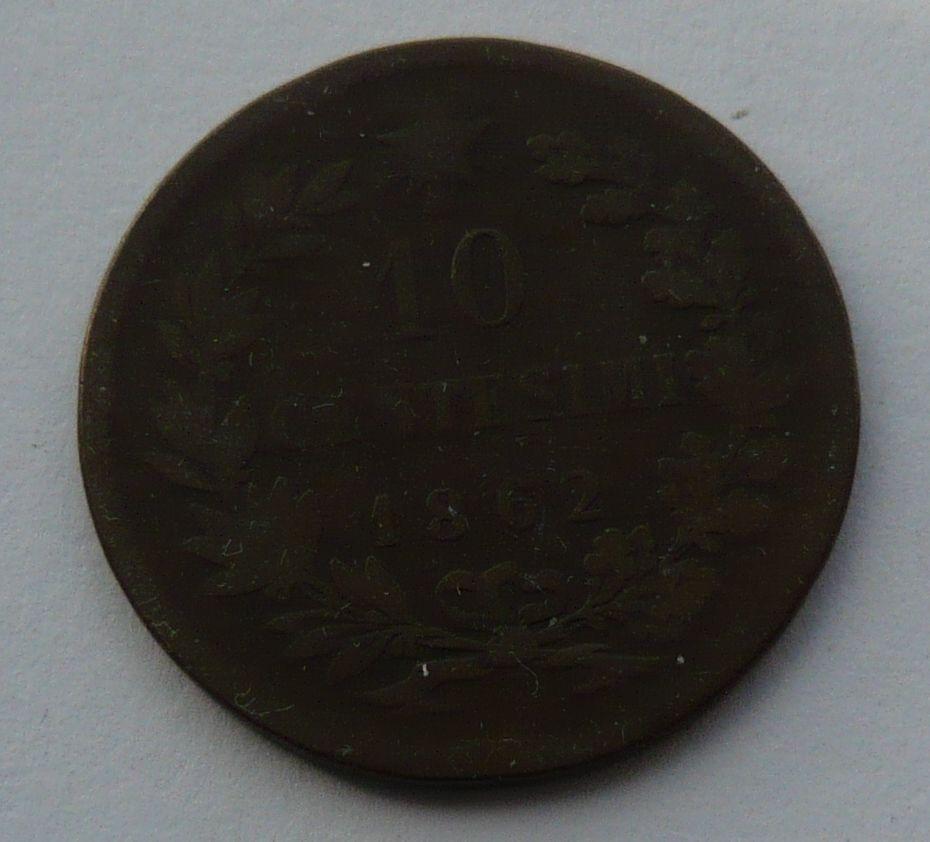 Itálie 10 Centisimi 1862