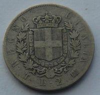Itálie 2 Lira 1863 Vik.Emanuel