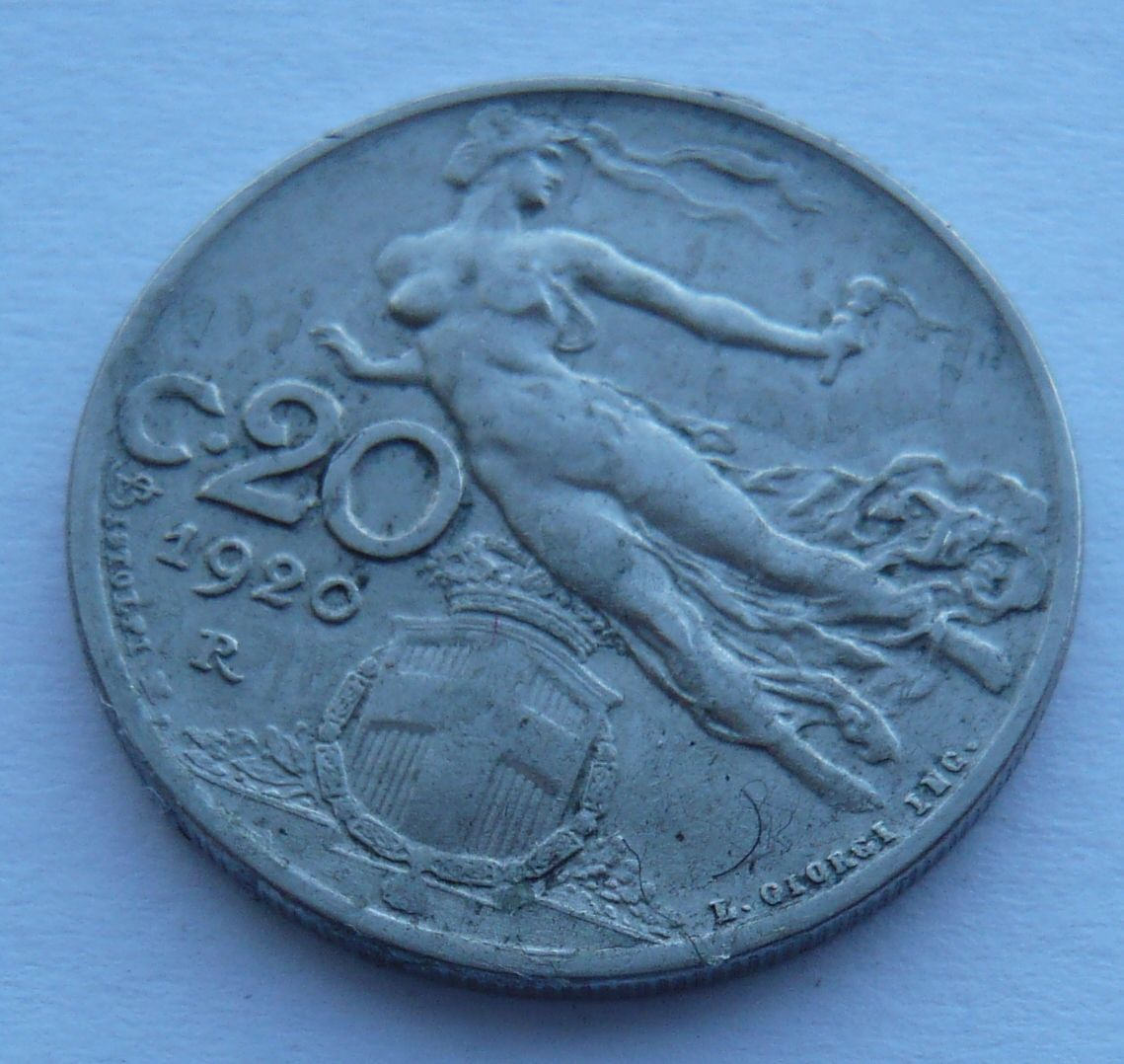 Itálie 20 Centesimi 1920