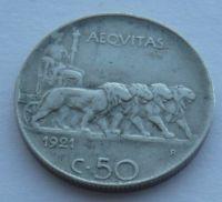 Itálie 50 Centesimi 1921