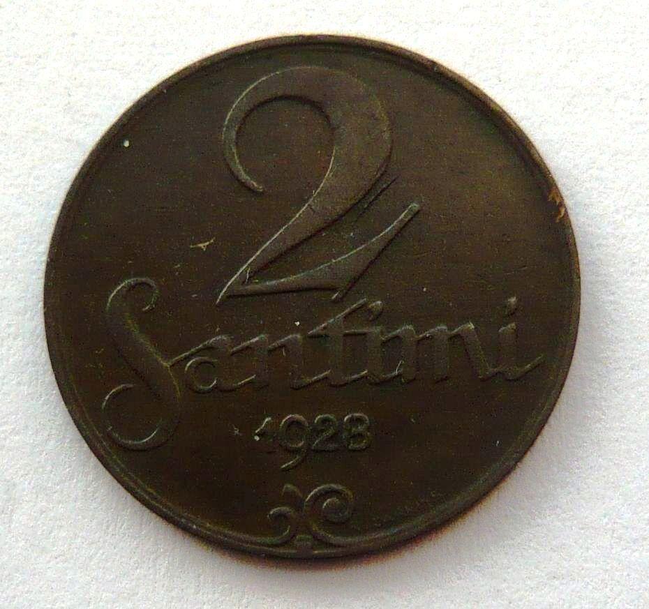 Lotyšsko 2 Santim 1928