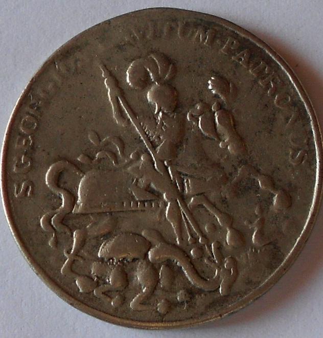 Medaile sv. Jiří zabijí draka, průměr 35mm