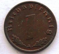 Německo 1 Pfenig 1939 A