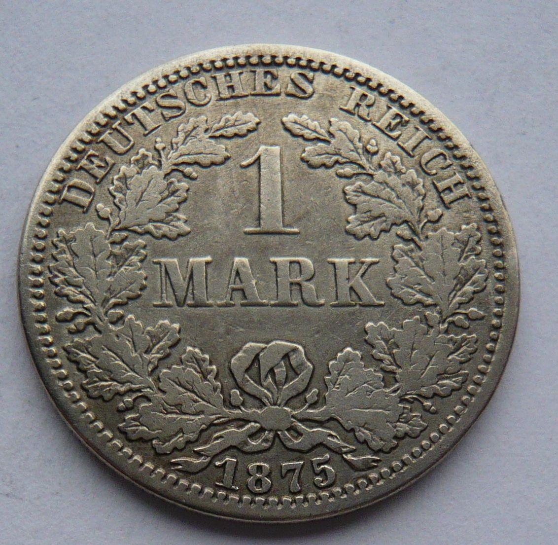 Německo A 1 Marka 1875 A