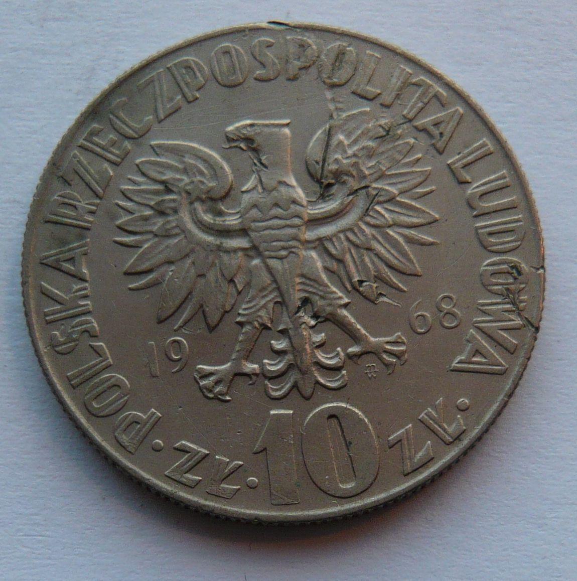 Polsko 10 Zl. KOPERNÍK 1968