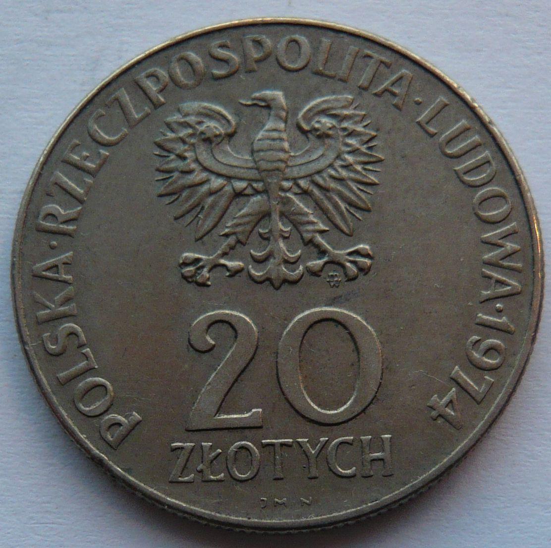 Polsko 20 Zl. RWGP 1974