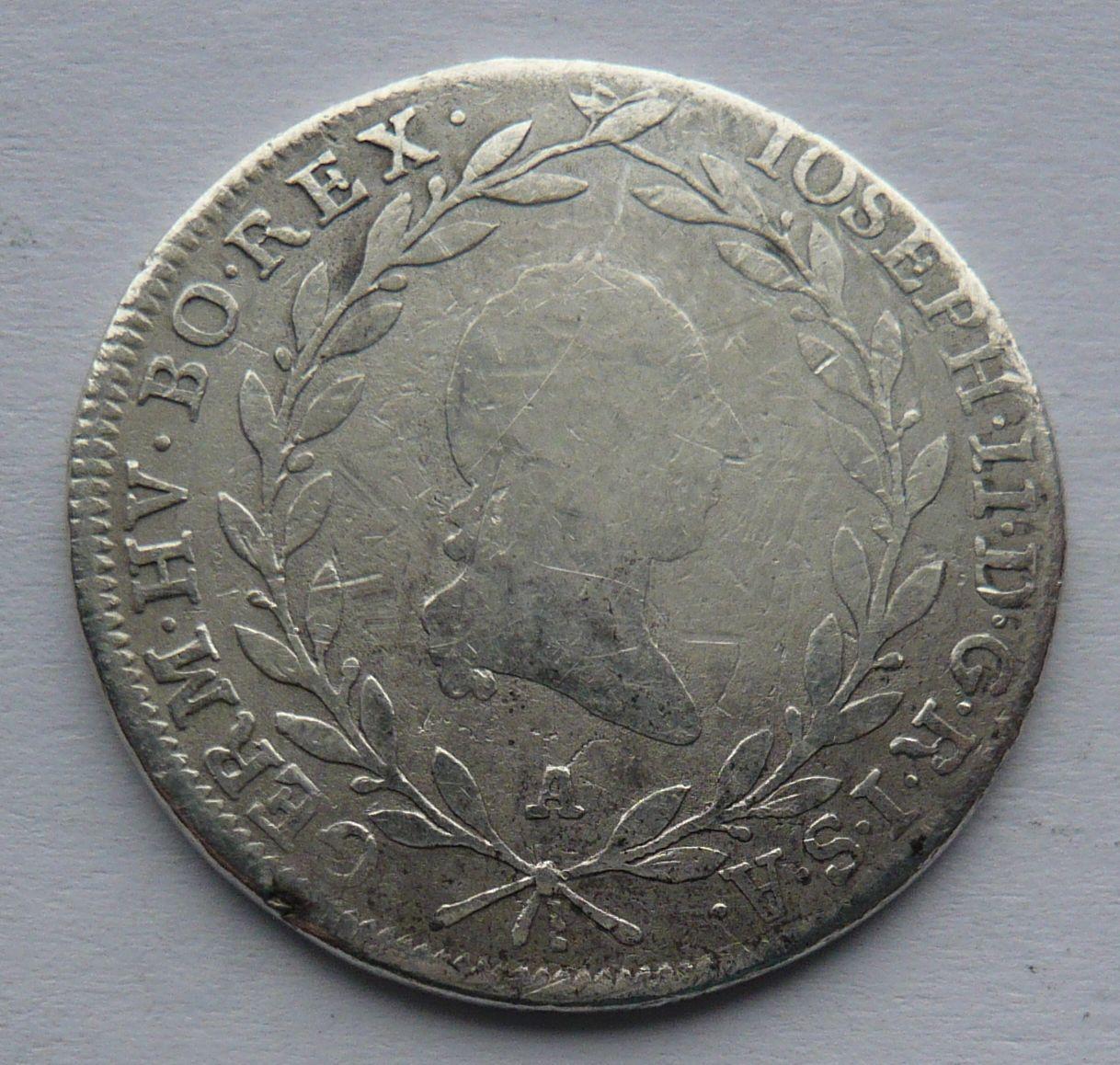 Rakousko - A 20 Krejcar 1782 Josef II.