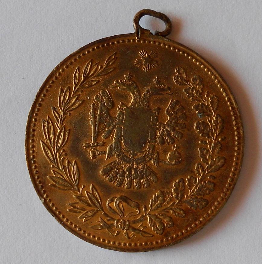 Rakousko FJ I. Medaile s orlicí původní ouško