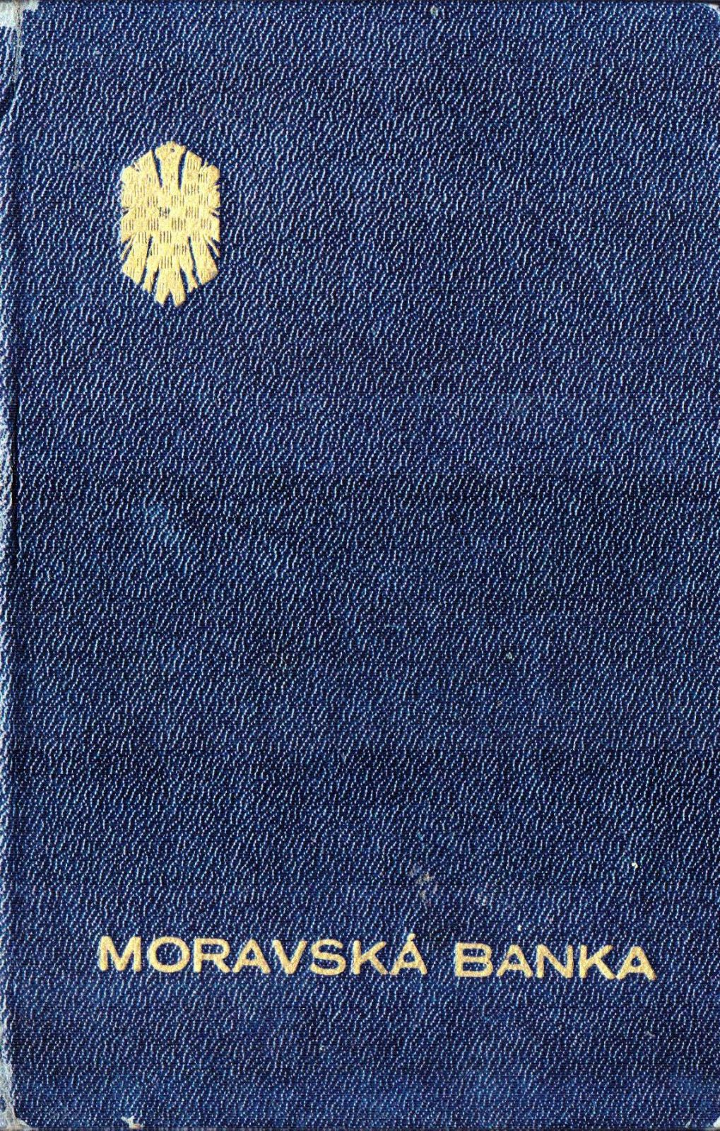 Vkladní knížka, Moravská banka pobočka Šumperk (1947)
