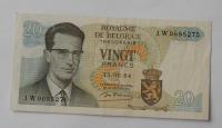 Belgie 20 Frank 15.6.1964