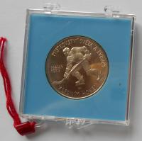 ČSSR 100 Kčs Hokej 1985 stav PROOF, originální etue