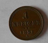 Rakousko 1 Krejcar 1851 A stav