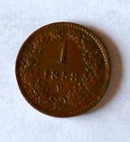 Rakousko 1 Krejcar 1858 V stav