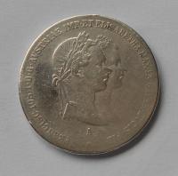 Rakousko 1 Zlatník/Gulden 1854 zásnubní, měl ouško