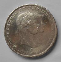 Rakousko 2 Zlatník/Gulden 1854 zásnubní, měl ouško